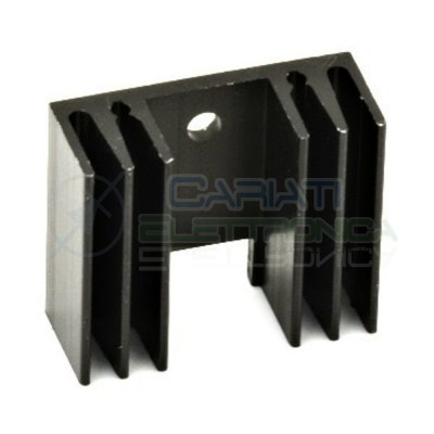 1 PEZZO Dissipatore Aletta Raffreddamento Alluminio TO220 29x24,5x11,5 mm  1,00€