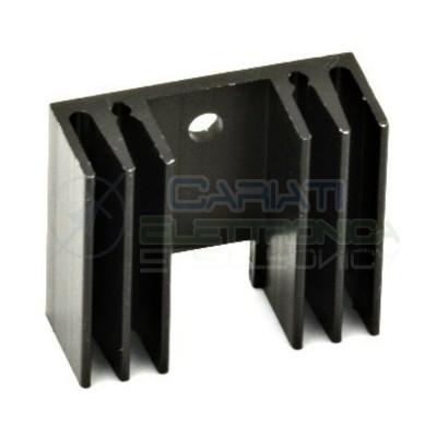 Dissipatore Aletta Raffreddamento Alluminio TO220 29x24,5x11,5 mm