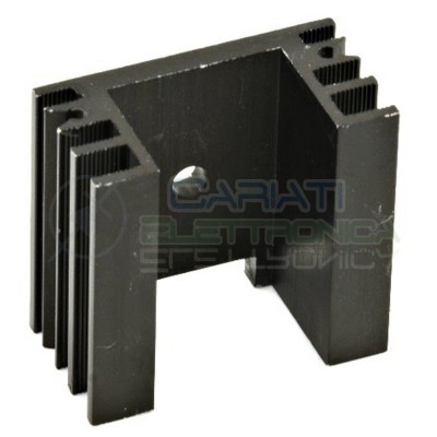 1 PEZZO Dissipatore Aletta Raffreddamento Alluminio TO220 TOP3 38x35x20 mm  1,00€