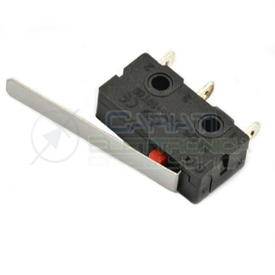 2 PEZZI MicroSwitch a leva Pulsante Fine Corsa Micro Switch