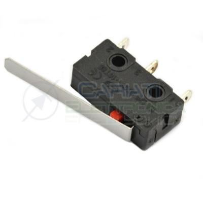 10 Pezzi MicroSwitch a leva Pulsante Fine Corsa Micro Switch