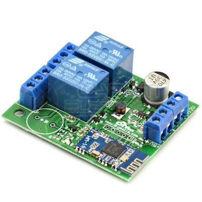 MODULO SCHEDA 2 RELE' con Bluetooth 5V 12V PER CONTROLLO TRAMITE APP ANDROID IOS