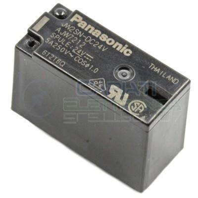Relay Relè 24V DC doppio scambio DPDT Panasonic JW2SN-DC24V 5A 250VAC 5A 30VDC Panasonic