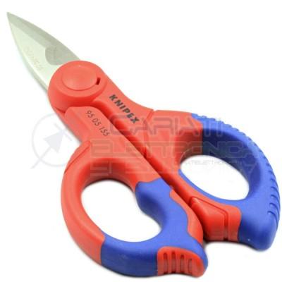 KNIPEX FORBICE DA ELETTRICISTA CAVI 95 05 155SB PROFESSIONALE IN ACCIAIO ISOLATA Knipex