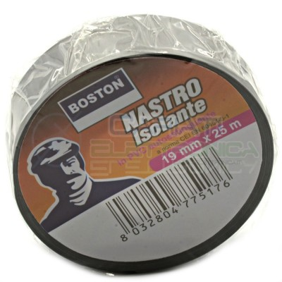 Nastro Isolante professionale BOSTON da 19mm x 25 metri 19x25 Grigio