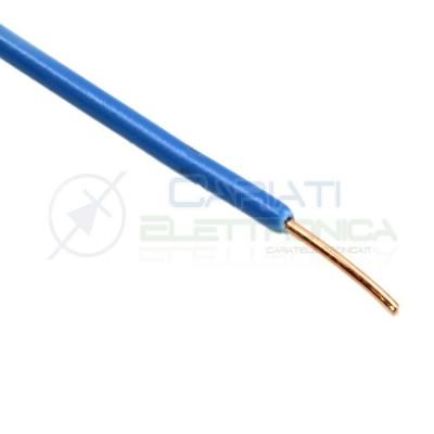 2 metri di Cavo filo singolo unifilate rigido AWG22 0.6mm con guaina Blu
