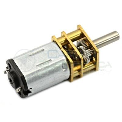 Motoriduttore Micromotore 12V 100 RPM motore con riduttore Generico