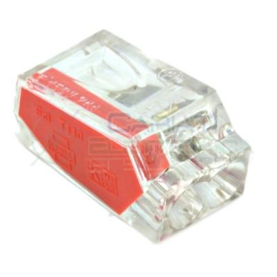 10 PEZZI Morsetto terminale 2 x 1-2,5mm2 per Cavi Fili Elettrici  1,49€