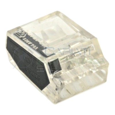10 PEZZI Morsetto terminale 3 x 0,75-2,5mm2 per Cavi Fili Elettrici  1,99€