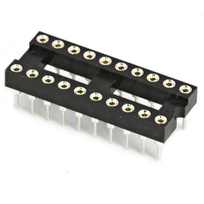 2 PEZZI Zoccolo DIP20 tornito THT 20 pin passo 2,54mm marca ASSMANN  1,00€