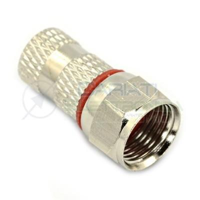 2 Pezzi Connettore F da 5mm Doppia Guarnizione per cavo coassiale antenna TV Spinotto F Zodiac