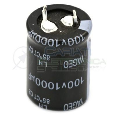 Condensatore elettrolitico SNAP IN 1000 uF 100V 85° 22x30mm Passo 10mm Samwha 1,79€