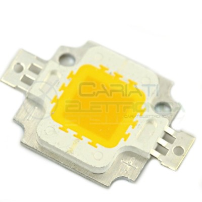 Chip power LED 10W 12V Bianco caldo 3000K alta Luminosità ricambio faro