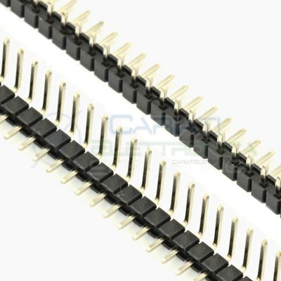 5 PEZZI Connettori strip line 90° 40 poli maschio con pin 6mm stripline Generico