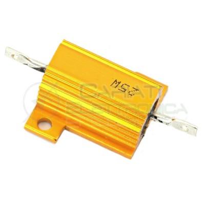 Resistenza Corazzata 25 Watt 10 Ohm 10ohm Corpo In Alluminio 25 W 25Watt