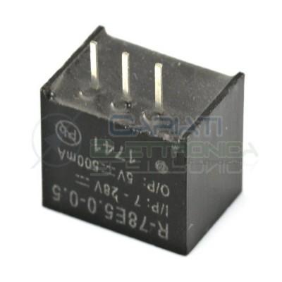 R-78E5.0-0.5 Recom Power REGOLATORE CONVERTITORE DC DC 5V 5W ingresso 7-28Vdc