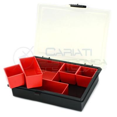 Valigetta Vaschetta Organizer con 6 contenitori moduli ESTRAIBILI