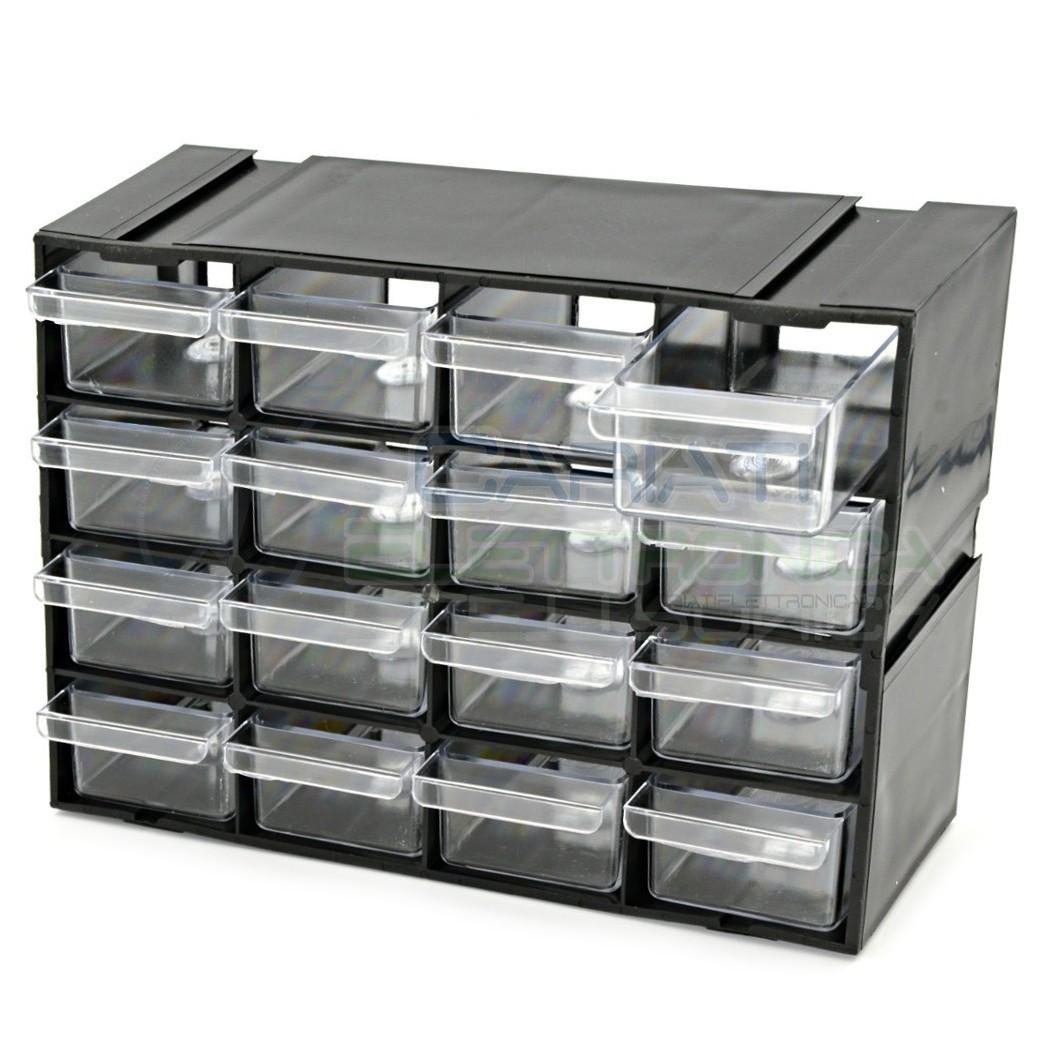 Cassettiere In Plastica Componibili.Cassettiera Componibile Per Porta Miniature Componenti Elettronici