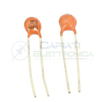 10 PEZZI Condensatore Ceramico a Disco 5,6pF 5,6 pF 50V NPO Passo 2,54mm  0,90€