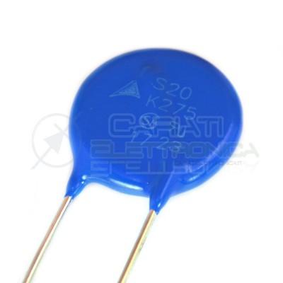 2 PEZZI S20K275 SIOV Varistore metallico-ossidico THT 275VAC 350VDC 8000A EPCOS