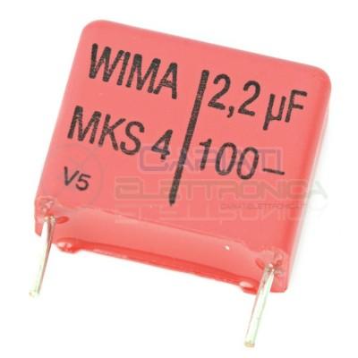Condensatore in poliestere WIMA 2,2uF 100V Passo 15mm 20% MKS4