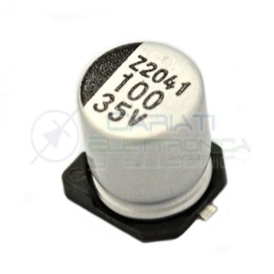 10 PEZZI Condensatore elettrolitico in SMD 100uF 35V 6x8mm 85°C SAMWHA 100 uF