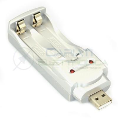 CARICABATTERIA USB per PILE AA e AAA BATTERIE Ni-MH Ni-Cd RICARICA PORTATILE Trustfire