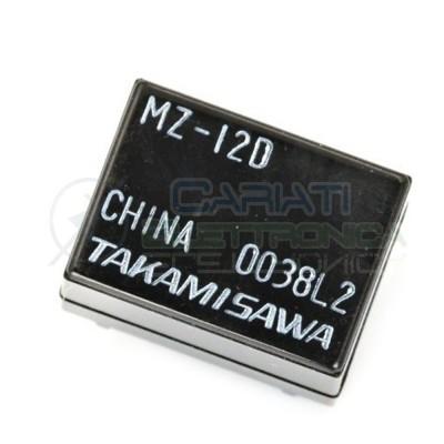 MZ-12D Relè Bobina 12V SPDT singolo scambio 12 Vdc 2A 125Vac 24Vdc Takamisawa