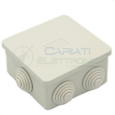 SCATOLA CASSETTA DI DERIVAZIONE 80x80x40mm CON 6 FORI PASSACAVI IP44 FAEG  1,50€