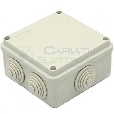 SCATOLA CASSETTA DI DERIVAZIONE 100x100x50mm CON 6 FORI PASSACAVI IP55 FAEG