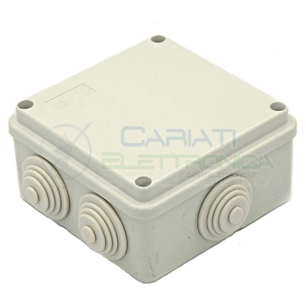 SCATOLA CASSETTA DI DERIVAZIONE 100x100x50mm CON 6 FORI PASSACAVI IP55 FAEG 2,49 €