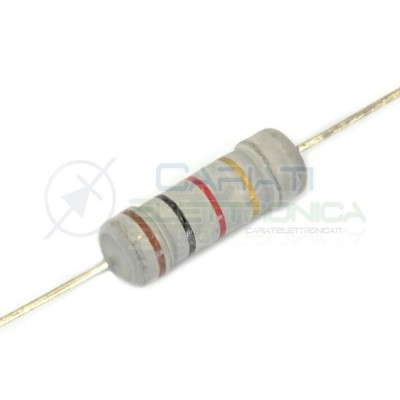 50 Pcs Resistor 68 Ohm 2Watt metal oxide 5% 68OhmT-ohm