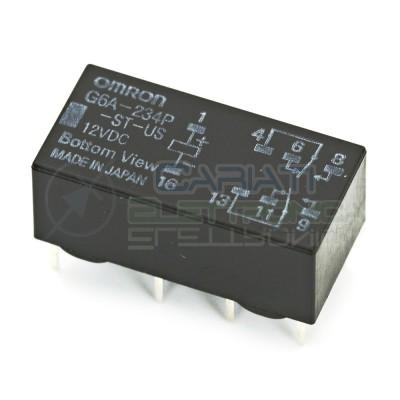 Relè OMRON Doppio contatto G6A-234P-ST-US G6A-234P 12V DPDT 1A 30VDC 0.6A 125VAC Omron