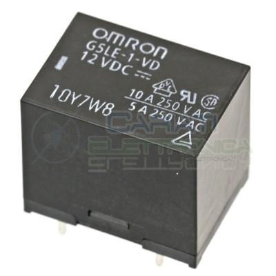 Relè OMRON singolo 1 scambio G5LE-1-VD SPDT bobina 12Vdc 250Vac 10A  1,59€