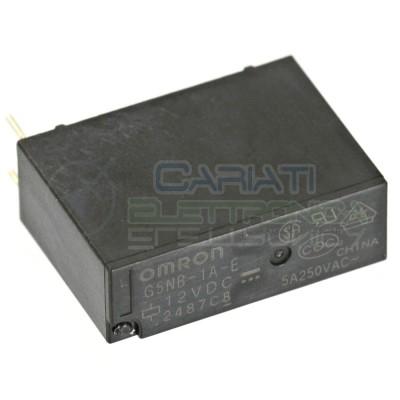 Relè OMRON singolo 1 scambio G5NB-1A-E SPST bobina 12Vdc 250Vac 5A Omron 1,59€
