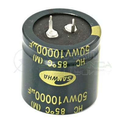 Condensatore Elelettrolitico SNAP IN 10000uF 50V 35x35mm 85° PASSO 10mm SAMWHA  3,59€