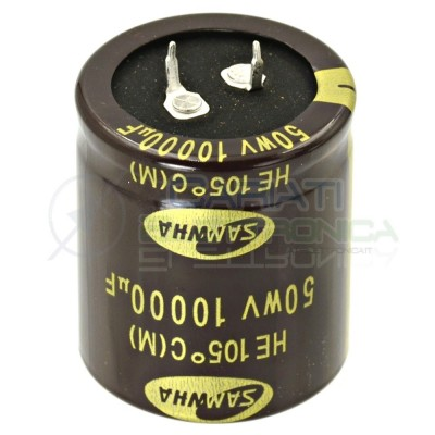 Condensatore Elelettrolitico SNAP-IN 10000uF 50V 35x40 105° PASSO 10mm SAMWHASamwha