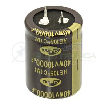 Condensatore elettrolitico SAMWHA SNAP IN 10000 uF 40V 105°C 40x30mmSamwha