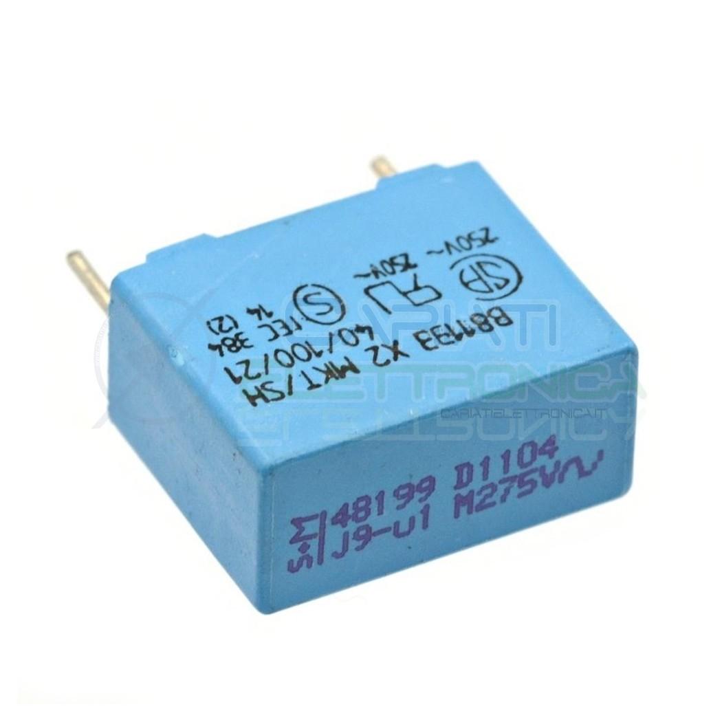 4 Pezzi Condensatore in Poliestere Siemens MKT 100nF 0.1uF 275V B81133 x2  1,49€