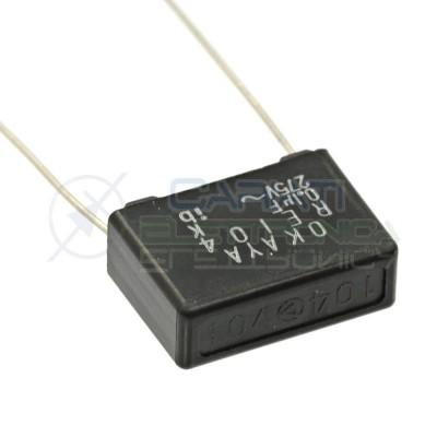 4 Pezzi Condensatore OKAYA RE104 100nF 0.1uF 275VOKAYA