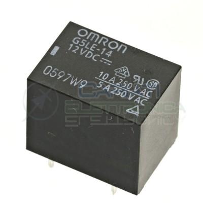 Relè OMRON singolo 1 scambio G5LE-14 SPDT bobina 12Vdc 250Vac 10A Omron 1,59€