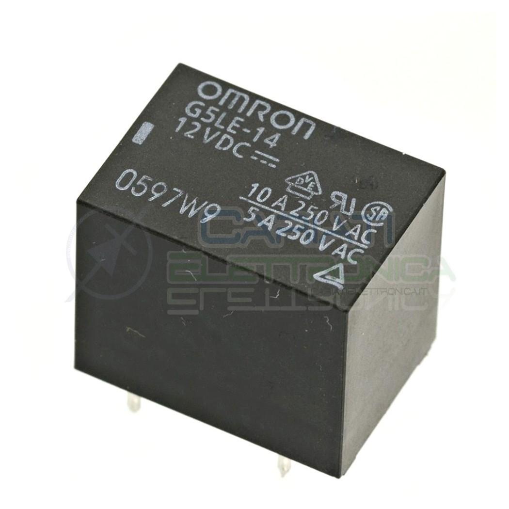 Relè OMRON singolo 1 scambio G5LE-14 SPDT bobina 12Vdc 250Vac 10A Omron