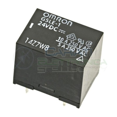Relè Omron singolo scambio G5LE-1 24Vdc SPDT bobina 24V 250Vac 10A Omron