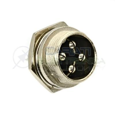 Spina presa microfonica 4 Poli connettore femmina da pannello Generico