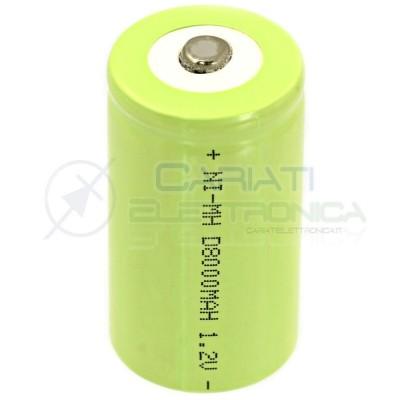BATTERIA RICARICABILE D TORCIONE NI-MH D 1,2V 8000mAh 34x62mm PROFESSIONALE 8,99 €