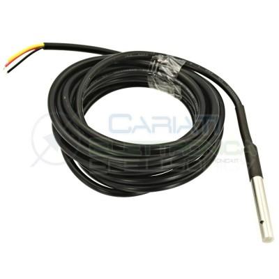 Sonda DS18b20 sensore temperatura termostato Cavo 2m -55 a 125°C Arduino Raspberry Generico
