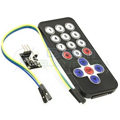 Telecomando IR 38 Khz + Ricevitore HX1838 Remote Control Arduino