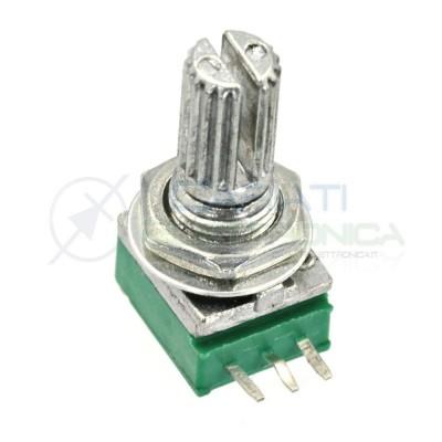 1 Pezzo Potenziometro Lineare 10 Kohm B10K RK097N 15mm Audio AmplificatoreGenerico