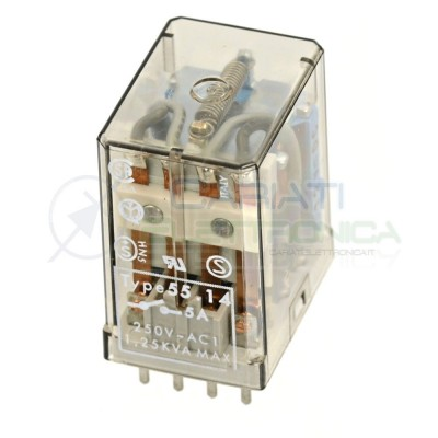 Industrial Relay Finder 55.14 4PDT coil12V dc 14 Pins 250V 5AFinder