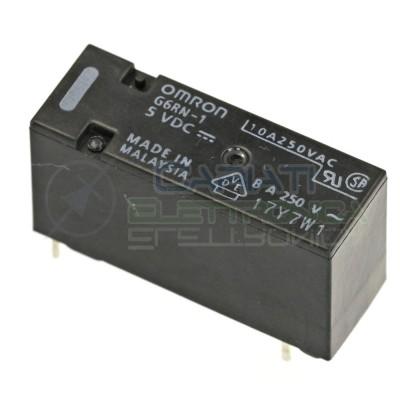 Relè singolo 1 scambio Omron G6RN-1 5 VDC 5V DC 8A 250V SPDTOmron